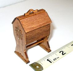 Sewing Box Colonial Dollhouse Miniature 1/12 Scale by CalicoJewels, $23.00