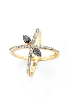 Jules Smith 'Criss Cross' Ring available at #Nordstrom