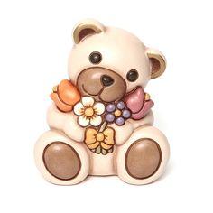 Teddy con mazzo di fiori - Thun