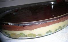 A Receita de Sobremesa Delícia de Uva é prática e deliciosa. Você precisa fazer um creme branco simples e um ganache. Depois, montar em uma travessa, fazen