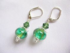 Gorgeous Lampwork earrings by TheLadyLindy on Etsy, $21.00