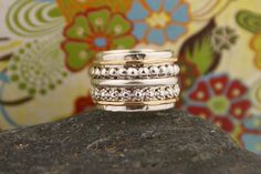 Solid Gold Ring Hodgepodge Ring  STYLE03-SG. $175.00, via Etsy.
