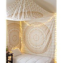 Traditional Jaipur Golden Ombre Tapestry, Mandala Wall Hanging, Bohemian Bedding Queen, Indian Throw, Hippie Dorm Room Decorations, Boho Picnic Throw, Gypsy Beach Blanket