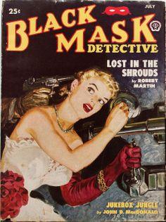 Black Mask - July 1950   pulp cover vintage art