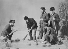 Curling group, Montreal, QC, 1867