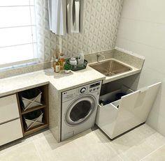 Boa tarde com essa lavanderia linda feita pela arquiteta @carolcantelli_interiores ✨   @decoreinteriores