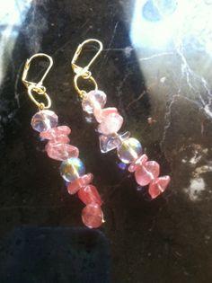 Cherry Quartz Angel Healing Earrings by AngelTouchReiki on Etsy, $17.00