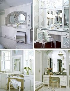 One day I will have a built in vanity ♡