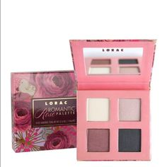 Lorac Romantic Rose Palette 4 shade Eye shadow Palette. Still new, used once and not all colors have been touched. No damages on mirror or palette. Box is not included. Lorac Makeup Eyeshadow