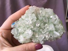 A personal favorite from my Etsy shop https://www.etsy.com/listing/513590729/green-apophyllite-cluster-4