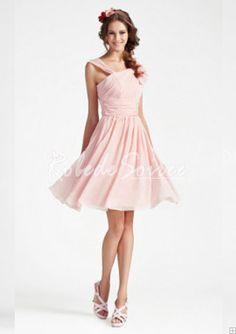 b4c0bdf0172e4 A-line V-neck Sleeveless Knee-length Chiffon Bridesmaid Dress - Super Sale  Offer Upto Off from Light in the box UK. Robe de Soirée