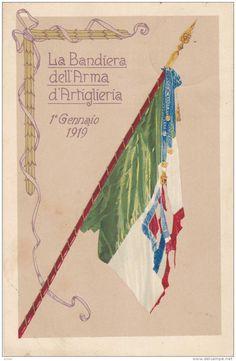 La Bandiera Dell' Arma d'Artiglieria, 1° Gennaio 1919, Italy