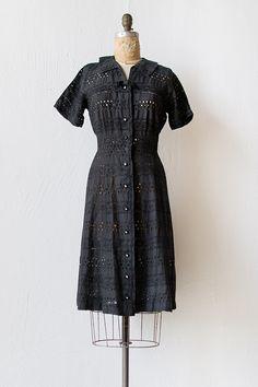 Vintage 1960s black eyelet cotton dress | Constant Companion Dress