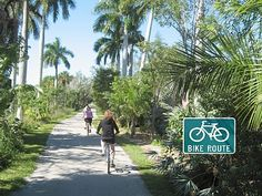 Bike riding is a must on Sanibel Island, Florida. Bike Route are everywhere. Go to www.YourTravelVideos.com or just click on photo for home videos and much more on sites like this.