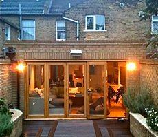 timber doors in Earlsfoeld extension Veronica Congdon Design - Interior Design