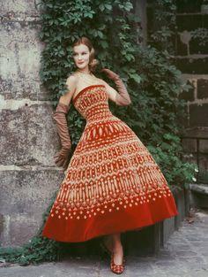 Christian Dior-Robe Soirée cubaine, collection Haute Couture automne-hiver 1955, ligne Y