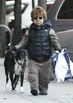 Peter Dinklage and his dog 2