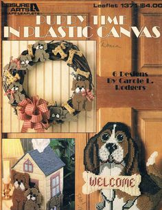 PUPPY TIME IN PLASTIC CANVAS by CAROLE L. RODGERS 1/11