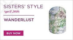 Sisters style for April - Wanderlust, absolutely lush. Jamberry have only just launched in the UK and im so excited by this gorgeous wrap.... i cant wait to see next months too.