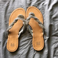 Victoria's Secret sandals Rare Victoria's Secret sandals with diamonds. Very lovely and great for that dressy look for a night out or to wear to a wedding. Size 6.5. Offers welcome. Victoria's Secret Shoes Sandals