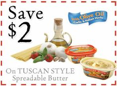 FREE Challenge Tuscan Style Butter (Coupon) on http://www.icravefreebies.com