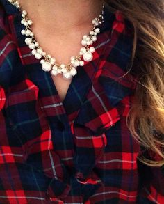 { Plaid and Pearls }