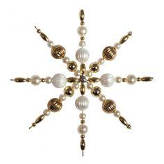 Bastelset 3x Perlensterne 8cm gold 16035616