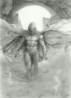 Moon Knight by Max Moda Comic Book Artists, Comic Book Characters, Comic Books Art, Comic Art, Fictional Characters, Moon Knight Cosplay, Marvel Moon Knight, Defenders Marvel, Knight Art
