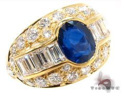 Gold and Blue Sapphire