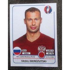 Football Soccer Sticker Panini UEFA Euro 2016 #165 Russia