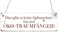 Holzschild Shabby Vintage HIER GIBT ES KEINE SPINNWEBEN Dekoschild Spruchschild