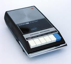 tape recorder. I totally had one and loved listening to my jetsons story book tapes on it and children's sing alongside and even recording myself talking. So much fun! 28 years ago!!