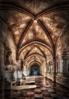 Cloisters of the Ancient Spanish Monastery - Marc Perrella