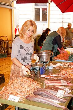 local fish market in Split, Croatia