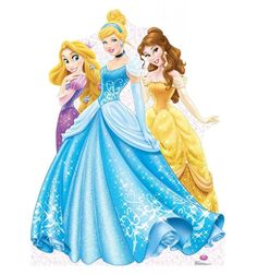 Disney Princesses Group Rapunzel, Cinderella, and Belle Cardboard Cutout Party Standup Princesa Rapunzel Disney, Princess Rapunzel, Princess Party, Princess Birthday, Disney Movies, Disney Characters, Disney Princesses, Life Size Cardboard Cutouts, Displays