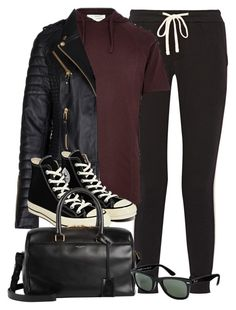 """""""Style #9707"""" by vany-alvarado ❤ liked on Polyvore featuring James Perse, River Island, Converse, Yves Saint Laurent, Ray-Ban, women's clothing, women's fashion, women, female and woman"""