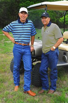 Photo of George Strait & his friend  Tom Cusick -