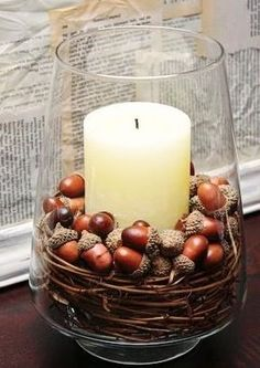 FALL candle table decoration...