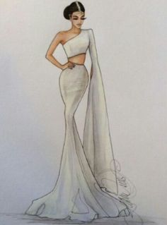 16 New Ideas For Fashion Design Dress Sketches Beautiful Source by fashion design inspiration Dress Design Drawing, Dress Design Sketches, Fashion Design Sketchbook, Fashion Design Drawings, Fashion Sketches, Dress Drawing, Wedding Dress Sketches, Drawing Clothes, Fashion Drawing Dresses
