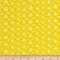 Art Gallery Tule Sand Dunes Golden  from @fabricdotcom  Designed by Leah Duncan for Art Gallery Fabrics, this cotton print is perfect for quilting, apparel and home decor accents.  Colors include yellow and white.  Art Gallery Fabric features 200 thread count of finely woven cotton.