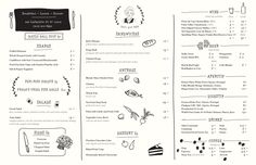 A division of UnderConsideration, cataloguing the underrated creativity of menus from around the world. Cafe Menu Design, Food Menu Design, Restaurant Menu Design, Restaurant Branding, Steak House Menu, Jacks Wife Freda, Delivery Menu, Print Packaging, Bakery Packaging