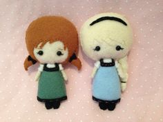 Anna and Elsa Frozen Little Anna and Elsa plush doll by RueVogue, $30.00