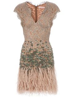 MATTHEW WILLIAMSON - Feathered dress