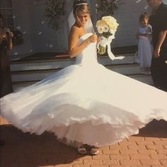 Stunning princess wedding dress! Please SHARE! Princess style with a satin corset top and beadwork looks like a belt hanging low on hips. The bottom half has light gems here and there that hits the light beautifully. I NO, in my heart there is another beautiful bride out there that could use this stunning dress! PLEASE- share share SHARE! Ty  Dresses Wedding