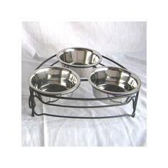 Triple pet bowl