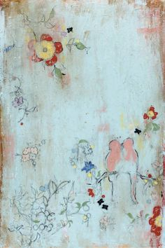 "Kathe Fraga paintings, inspired by the romance of vintage Paris and Chinoiserie Ancienne. ""Cinq Papillons"" on frescoed canvas, 24x36. www.kathefraga.com"