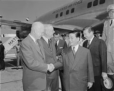 What Was the Domino Theory?: Ngo Dinh Diem, President of South Vietnam, arrives in Washington in 1957, and is greeted by President Eisenhower