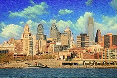 Oil Pastels Featured Images - Philadelphia by Taylan Soyturk Pastel Artwork, Oil Pastel Art, Oil Pastels, Philadelphia City Hall, Skyline Painting, Diy Canvas, Art Pages, Impressionist, All Art