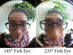 Сравнение объективов fisheye (фишай). Слева объектив с обзором в 180°, справа - 235°, как модель в этой доске  • Цена 1250 рублей  #Lens4Phone #Fisheye #Wide #Macro #iPhone #iPhone4 #iPhone5 #iPhone6 #fisheye #фишай #макро #фото #объектив