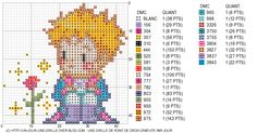 free petit prince with rose chart